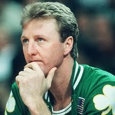 Fotografía del exjugador de los Boston Celtics, Larry Bird