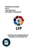 Estatutos sociales de la liga nacional de futbol profesional