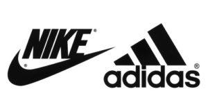 Logotipos de nike y adidas